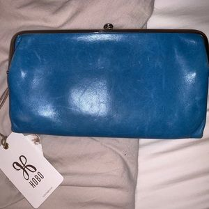 Blue HOBO Wallet With Tags